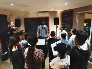 En studio avec les jeunes du collège Stendhal
